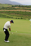 Ross Fisher (ENG) chips onto the 8th green during Day 2 of the Volvo World Match Play Championship in Finca Cortesin, Casares, Spain, 20th May 2011. (Photo Eoin Clarke/Golffile 2011)
