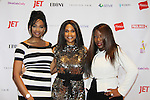 Honoree Karen Mitchell with Presenter Nana Meriwether (Miss USA 2012) gave Fashion Icon Award Color of Beauty Awards to supermodel Beverly Johnson on February 4, 2014 at Holy Apostles, New York City, New York. (Photo by Sue Coflin/Max Photos)