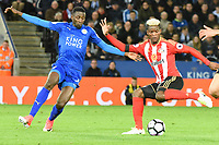 Didier N'Dong of Sunderland during the Premier League match between Leicester City v Sunderland played at King Power Stadium, Leicester on 4th April 2017.<br /> <br /> <br /> available via IPS Photo Agency only
