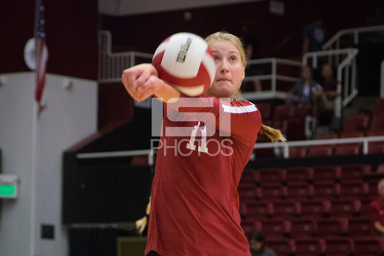 STANFORD, CA - September 9, 2018: Kate Formico at Maples Pavilion. The Stanford Cardinal defeated #1 ranked Minnesota 3-1 in the Big Ten / PAC-12 Challenge.