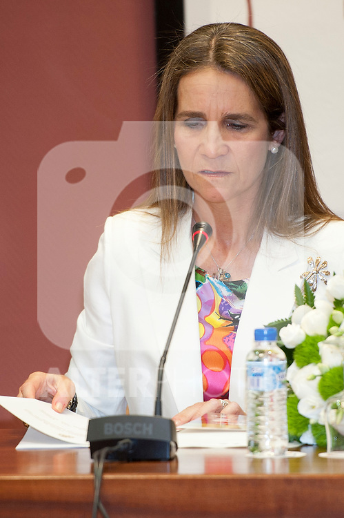 Infanta Elena of Spain during the general assembly of the Spanish Paralympic Committee..(Alterphotos/Ricky)