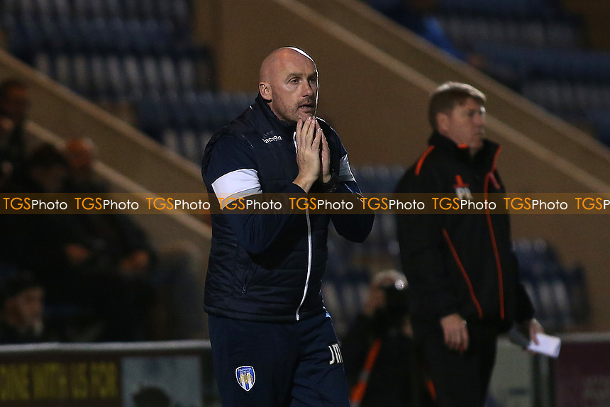 Colchester United manager John McGreal during Colchester United vs Mansfield Town, Sky Bet EFL League 2 Football at the Weston Homes Community Stadium on 14th March 2017
