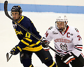 Mike Collins (Merrimack - 13), Vinny Saponari (NU - 74) - The Northeastern University Huskies defeated the visiting Merrimack College Warriors 4-2 (EN) on Wednesday, October 10, 2012, at Matthews Arena in Boston, Massachusetts.