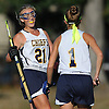 Mackenzie Conkling #1 of Massapequa, right, gets congratulated by teammate Shannon Bernhardt #21 after scoring a goal in a Nassau County Conference I varsity field hockey match against Baldwin at Field of Dreams Park in Massapequa on Monday, Sept. 26, 2016. Bernhardt tallied three assists in Massapequa's 5-0 win.
