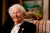 TALLAHASSEE, FLA., 1/13/10-FSU MED MAGUIRE CH14-Dr. Charlotte Maguire talks about her life and career during an interview at her Tallahassee, Fla. home Jan. 13, 2010...COLIN HACKLEY PHOTO