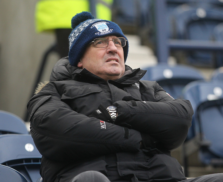 Preston North End's Fans anticipate the kick-off<br /> <br /> Photographer Mick Walker/CameraSport<br /> <br /> The EFL Sky Bet Championship - Preston North End v Swansea City - Saturday 12th January 2019 - Deepdale Stadium - Preston<br /> <br /> World Copyright © 2019 CameraSport. All rights reserved. 43 Linden Ave. Countesthorpe. Leicester. England. LE8 5PG - Tel: +44 (0) 116 277 4147 - admin@camerasport.com - www.camerasport.com