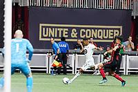 ATLANTA, Georgia - August 27: Mason Toye #23 during the 2019 U.S. Open Cup Final between Atlanta United and Minnesota United at Mercedes-Benz Stadium on August 27, 2019 in Atlanta, Georgia.