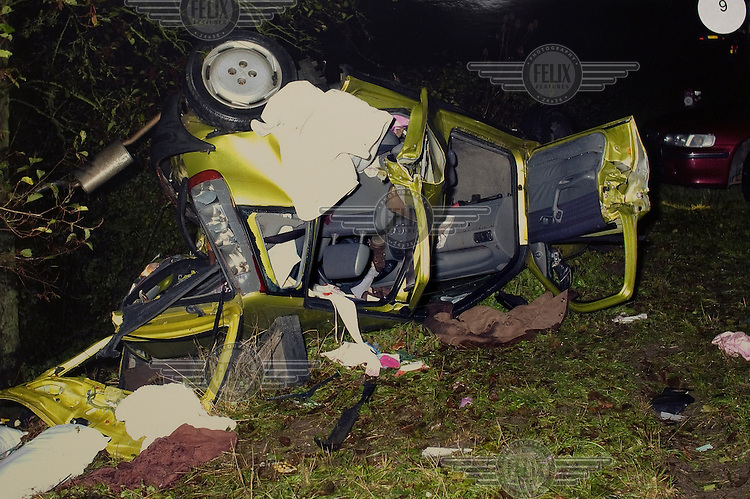A file photo of the car of Victoria McBryde after the crash. Philippa Curtis crashed into Victoria's car whilst texting and driving at the same time, killing Victoria.