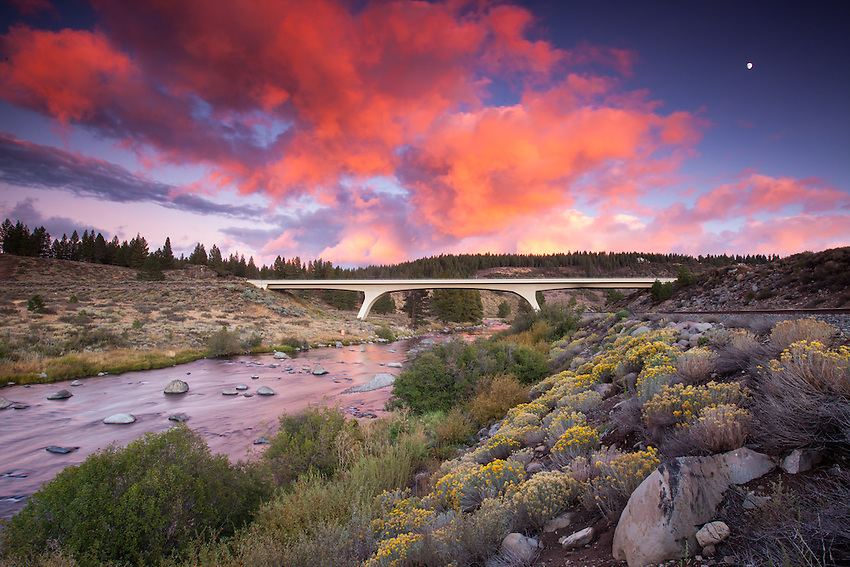 Truckee River and the Glenshire Bridge