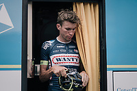 Yoann Offredo (FRA/Wanty-Groupe Gobert) puffing at the start of a short but heavy race day<br /> <br /> 104th Tour de France 2017<br /> Stage 13 - Saint-Girons › Foix (100km)