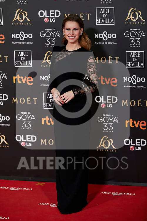 Manuela Velles attends to 33rd Goya Awards at Fibes - Conference and Exhibition  in Seville, Spain. February 02, 2019. (ALTERPHOTOS/A. Perez Meca)