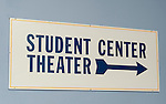"Entrance lobby to Student Center Theater ain North Campus of Hofstra University, Hempstead, New York, USA, on April 19, 2012, where Debate 2012 ""Change in the White House"" event was held."