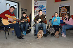 Musicians performing on Laurence street for the visit of Fleadh Ceol Ard Comhairle to assess Drogheda in its bid to host the Fleadh Ceol 2015. Photo:Colin Bell/pressphotos.ie