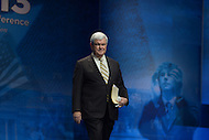 March 14, 2013  (National Harbor, Maryland)  Newt Gingrich walks on stage to address the 2013 Conservative Political Action Conference (CPAC) in National Harbor, MD.  (Photo by Don Baxter/Media Images International)