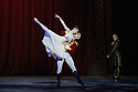 London, UK. 13.12.2016. English National Ballet presents NUTCRACKER, at the London Coliseum. Choreography by Wayne Eagling, based on a concept by Toer van Schayk and Wayne Eagling, music by Pyotr Ilyich Tchaikovsky, design by Peter Farmer, lighting by David Richardson. Picture shows: Alina Cojocaru (Clara), James Forbat (Nutcracker), Fabian Reimair (Drosselmeyer). Photograph © Jane Hobson.,