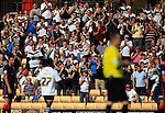 Port Vale 3 Doncaster Rovers 0, 22/08/2015. League One, Vale Park. Port Vale fans applaud No. 27 Enoch Andoh as he is substituted. Photo by Paul Thompson.