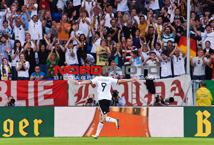29.05.2011, Rhein-Neckar-Arena, Sinsheim, GER, LS FSP, Deutschland (GER) vs Uruguay (UY), im Bild Andre Schuerrle of Germany celebrates his goal during the Football Friendly Ship betweem Germany and Uruguay  for the Rhein-Neckar-Arena in Sinsheim, Germany, 2011/05/29, Foto © nph / Roth