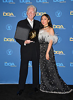 LOS ANGELES, CA. February 02, 2019: Louis J.Horvitz & Constance Wu at the 71st Annual Directors Guild of America Awards at the Ray Dolby Ballroom.<br /> Picture: Paul Smith/Featureflash