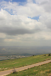Israel, Mount Gilboa Scenic Road overlooking Beth She'an valley