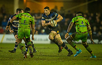 Bath Rugby's Charlie Ewels in action during todays match<br /> <br /> Photographer Bob Bradford/CameraSport<br /> <br /> Anglo-Welsh Cup Semi Final - Bath Rugby v  Northampton Saints - Friday 9th March 2018 - The Recreation Ground - Bath<br /> <br /> World Copyright &copy; 2018 CameraSport. All rights reserved. 43 Linden Ave. Countesthorpe. Leicester. England. LE8 5PG - Tel: +44 (0) 116 277 4147 - admin@camerasport.com - www.camerasport.com