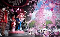 Alberto Contador (ESP/Tinkoff-Saxo) still pretty in pink after stage 19<br /> <br /> Giro d'Italia 2015<br /> stage 19: Gravellona Toce - Cervinia (236km)