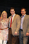 Guiding Light Robert Bogue & Jeremy Stiles Holm (ATWT 2010) & Grammy Award Winning Olivia Newton-John pose after the performance of Victoria E. Calderon's play Manipulation on June 24, 2011 at the Cherry Lane Theatre, New York City, New York. (Photo by Sue Coflin/Max Photos)