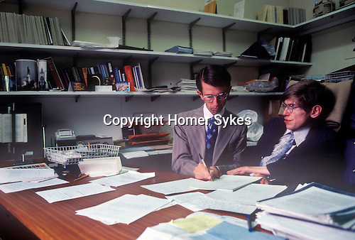 Stephen Hawking 1981 Cambridge University tutorial with student Don Page. Professor Don N. Page is a Canadian theoretical physicist at the University of Alberta, Canada.