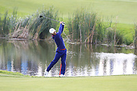 Thorbjorn Olesen Team Europe plays his 2nd shot on the 9th hole during Friday's Fourball Matches at the 2018 Ryder Cup, Le Golf National, Iles-de-France, France. 28/09/2018.<br /> Picture Eoin Clarke / Golffile.ie<br /> <br /> All photo usage must carry mandatory copyright credit (© Golffile | Eoin Clarke)