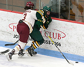 Serena Sommerfield (BC - 3), Saana Valkama (UVM - 24) -  The Boston College Eagles defeated the University of Vermont Catamounts 4-3 in double overtime in their Hockey East semi-final on Saturday, March 4, 2017, at Walter Brown Arena in Boston, Massachusetts.