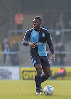 Aaron Pierre of Wycombe Wanderers during the Sky Bet League 2 match between Wycombe Wanderers and Stevenage at Adams Park, High Wycombe, England on 12 March 2016. Photo by Andy Rowland/PRiME Media Images.