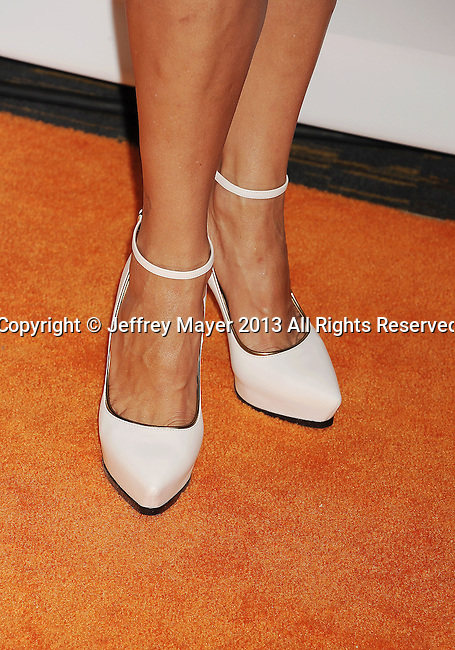 CENTURY CITY, CA- MAY 03: Actress Catherine Bell (shoe detail) at the 20th Annual Race To Erase MS Gala 'Love To Erase MS' at the Hyatt Regency Century Plaza on May 3, 2013 in Century City, California.
