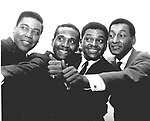 Four Tops 1966 Lawrence Payton, Levi Stubbs, Renaldo Obie Benson and Abdul Duke Fakir....