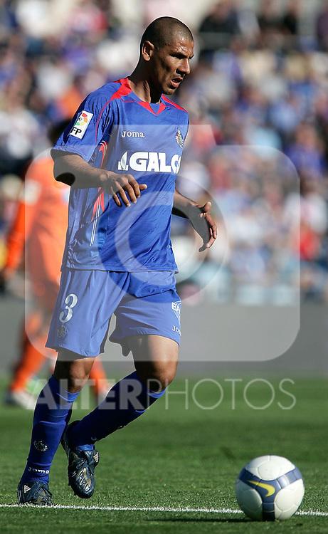 Getafe's Daniel Cata Diaz during La Liga match, March 22, 2009. (ALTERPHOTOS/Alvaro Hernandez).
