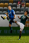 Yingzhi Ju of Long Lions (R) trips up with SC Kitchee Defender Krisztin Vadocz (L) during the Community Cup match between Kitchee and Eastern Long Lions at Mong Kok Stadium on September 23, 2017 in Hong Kong, China. Photo by Marcio Rodrigo Machado / Power Sport Images