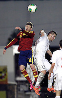 Spain's Alberto Moreno and Norway's Kastrati during an International sub21 match. March 21, 2013.(ALTERPHOTOS/Alconada) /NortePhoto