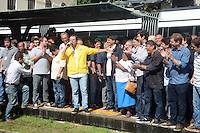 RIO DE JANEIRO,RJ - 05.06.2016 - VLT-RJ Prefeito Eduardo Paes durante inauguração do VLT (Veiculo Leve sobre trilhos) na região portuária da cidade neste domingo, 05. Inicialmente, o transporte funcionará de segunda à sexta-feira, das 12h às 15h, com embarque e desembarque em oito paradas nos dois sentidos: Parada dos Museus, São Bento, Candelária, Sete de Setembro, Carioca, Cinelândia, Antônio Carlos e Santos Dumont. (Foto Jorge Hely / Brazil Photo Press)