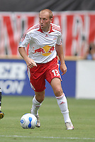 New York Red Bulls forward Clint Mathis (13) holds the ball. DC United defeated the New York Red Bulls, 4-2, at RFK Stadium in Washington DC, Sunday, June 10 , 2007.