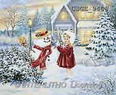 Dona Gelsinger, CHRISTMAS CHILDREN, paintings, girl, snowman(USGE9408,#XK#)