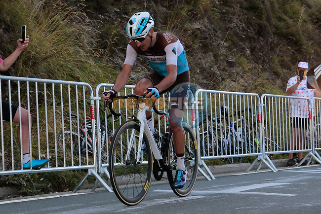 Nans Peters (FRA) AG2R La Mondiale climbs the Col de Peyresourde during Stage 8 of Tour de France 2020, running 141km from Cazeres-sur-Garonne to Loudenvielle, France. 5th September 2020. <br /> Picture: Colin Flockton | Cyclefile<br /> All photos usage must carry mandatory copyright credit (© Cyclefile | Colin Flockton)