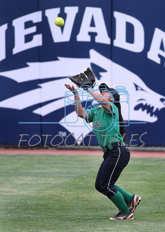 Rancho's Sammi Llamas makes a play against Reed during NIAA DI softball action at the University of Nevada, in Reno, Nev., on Thursday, May 19, 2016. Cathleen Allison/Las Vegas Review-Journal