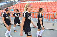 Houston, TX - Sunday Oct. 09, 2016: Courtney Niemiec prior to a National Women's Soccer League (NWSL) Championship match between the Washington Spirit and the Western New York Flash at BBVA Compass Stadium.