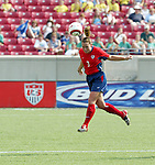 6 June 2004: Christie Pearce Rampone heads the ball in the second half. The United States tied Japan 1-1 at Papa John's Cardinal Stadium in Louisville, KY in an international friendly soccer game..