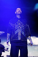 LONDON, ENGLAND - FEBRUARY 7: Shane Lynch of 'Boyzone' performing at the O2 Arena on February 7, 2019 as part of their 'Thank You &amp; Goodnight' Farewell Tour in London, England.<br /> CAP/MAR<br /> &copy;MAR/Capital Pictures