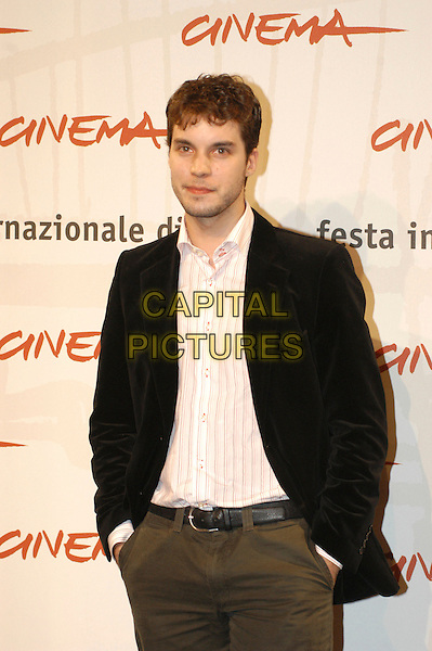 "LORENZO BALDUCCI.Photocall for ""The Stone Council"" during the Rome Film Festival, Rome, Italy..October 17th, 2007.Ref: CAV.half length black jacket hands in pockets.www.capitalpictures.com.sales@capitalpictures.com.©Luca Cavallari/Capital Pictures."