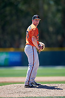 Baltimore Orioles pitcher Matt Trowbridge (70) gets ready to deliver a pitch during a minor league Spring Training game against the Minnesota Twins on March 17, 2017 at the Buck O'Neil Baseball Complex in Sarasota, Florida.  (Mike Janes/Four Seam Images)