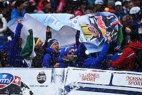 Peter Fill vince la coppa del mondo di Discesa Libera <br /> Tifosi <br /> Saint Moritz 16-03-2016 Sci Alpino <br /> Foto Manuel Lopez / Freshfocus / Insidefoto