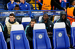Chelsea's Alvaro Morata, Eden Hazard, Antonio Rudiger and Tiemoue Bakayoko look on from the bench during the champions league match at Stamford Bridge Stadium, London. Picture date 12th September 2017. Picture credit should read: David Klein/Sportimage