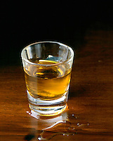 STILL LIFE: NEGATIVE IMAGE OF ALCOHOL<br /> A Shot Glass of Alcohol.