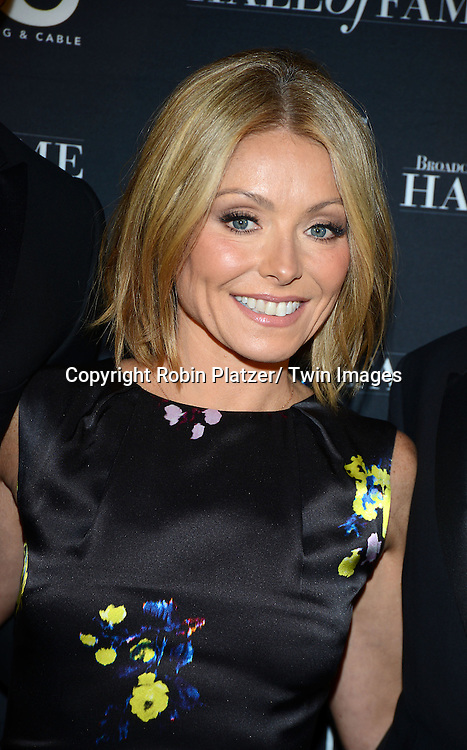 Kelly Ripa attends the Broadcasting & Cable Hall of Fame Awards Dinner on October 28, 2013 at the Waldorf-Astoria Hotel in New York City.