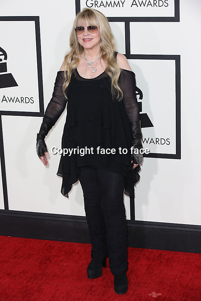 LOS ANGELES, CA - JANUARY 26: Stevie Nicks attending The 56th Annual Grammy Awards at Staples Center in Los Angeles, California on January 26, 2014. Credit: mpi99/MediaPunch<br /> Credit: MediaPunch/face to face<br /> - Germany, Austria, Switzerland, Eastern Europe, Australia, UK, USA, Taiwan, Singapore, China, Malaysia, Thailand, Sweden, Estonia, Latvia and Lithuania rights only -